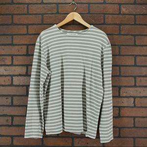 EVERLANE Heavyweight Striped Shirt Size L